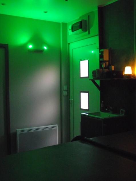 espace bien être chromothérapie vert